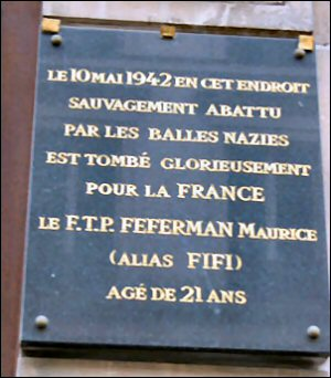 Plaque commémorative (Paris, IVe arr.)
