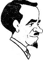 Caricature de Paul Faure en 1920