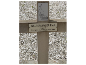 Tombe de Paul WARPERSWYLER, Nécropole Nationale de Saint-Nizier-du-Moucherotte (Isère)